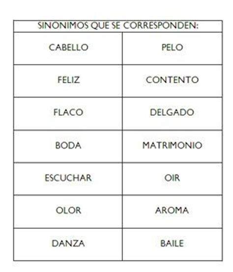 Ejemplos de sinónimos y antónimos, lista de sinónimos ...