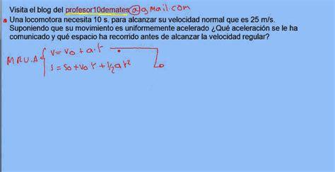 Ejercicio 03 MRUA problema resuelto   YouTube