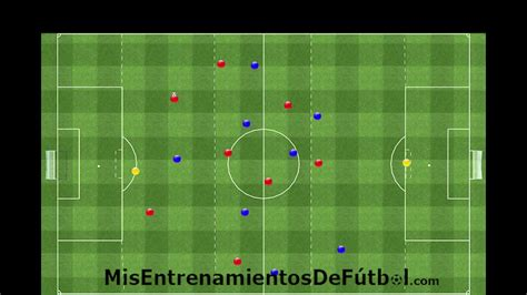 Ejercicio de Fútbol   Partido táctico en 3 zonas   YouTube