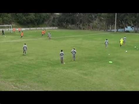 Ejercicio de fútbol trabajo táctico ofensivo y defensivo 6 ...