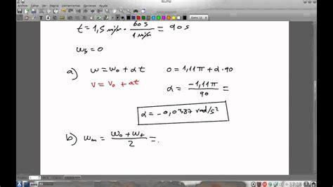 Ejercicio de velocidad y aceleración angular 9   YouTube