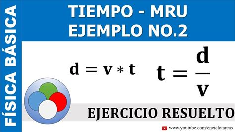 EJERCICIO RESUELTO DE TIEMPO  MRU    PARTE 2   YouTube