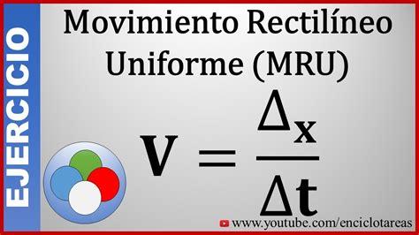 Ejercicio Resuelto    MRU    Velocidad Media   YouTube