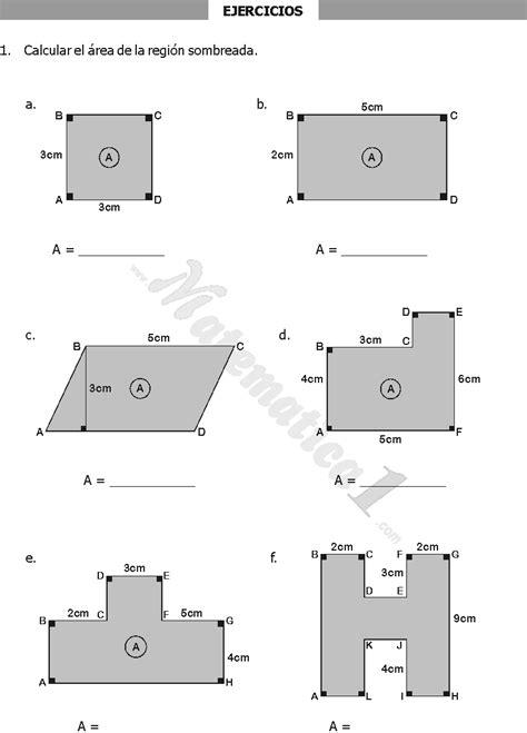 ejercicios de areas y perimetros para imprimir las | Área ...