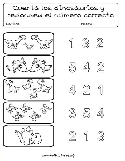 Ejercicios de dinosaurios para niños de preescolar | Niños ...