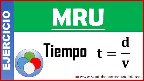 Ejercicios de Física   Tiempo en el MRU   YouTube
