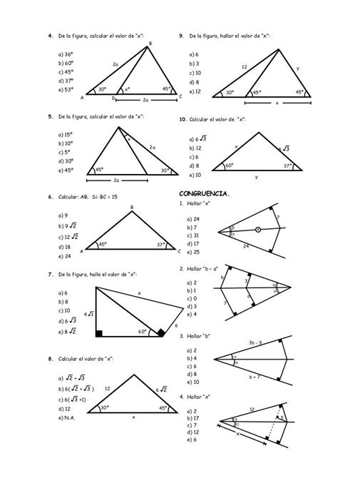 Ejercicios de Geometría | Geometry worksheets, Teaching ...
