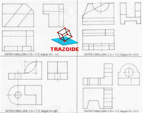 Ejercicios de perspectiva CABALLERA   996   Trazoide