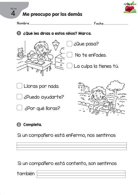 Ejercicios para trabajar EMOCIONES en primaria 9 ...