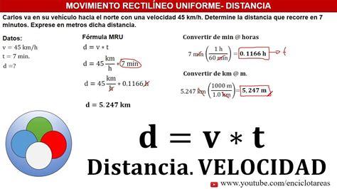 EJERCICIOS RESUELTOS DE DISTANCIA Y VELOCIDAD   MRU   YouTube