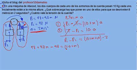 ejercicios y problemas resueltos de física dinámica 8 ...