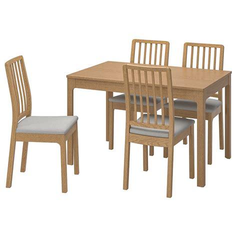 EKEDALEN / EKEDALEN Bord og 4 stoler   eik, Orrsta lys grå ...
