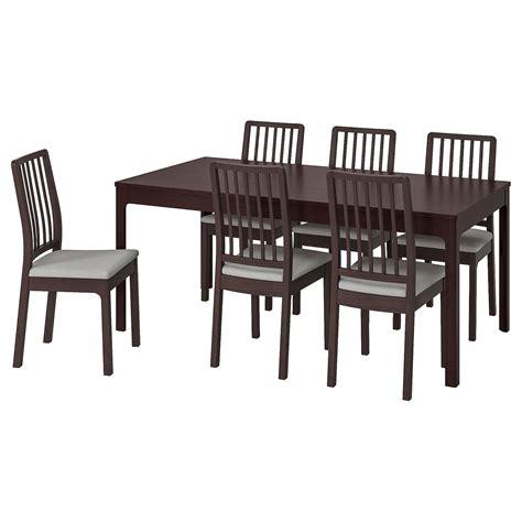 EKEDALEN / EKEDALEN Mesa y 6 sillas, marrón oscuro, Orrsta ...
