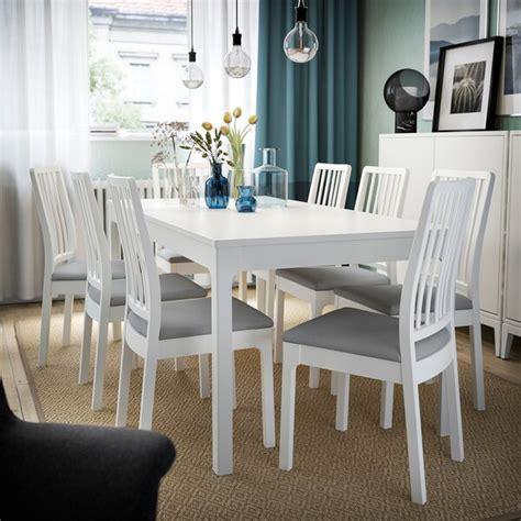 EKEDALEN Mesa extensible, blanco, longitud mínima: 120 cm ...