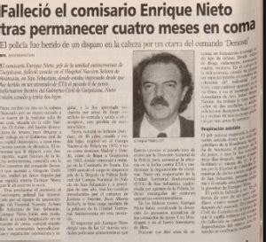 El 19 de octubre de 1995 fallecía el inspector de Policía ...