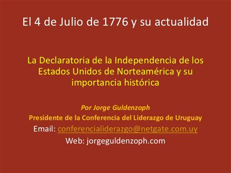 El 4 de julio de 1776