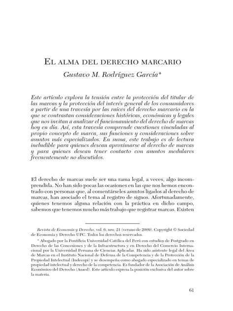 El Alma Del Derecho Marcario | Los consumidores | Marca ...