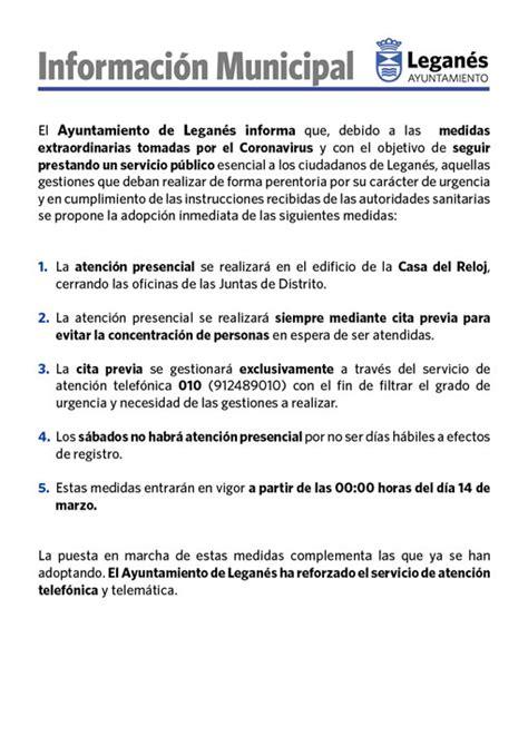 El Ayuntamiento de Leganés solo prestará atención ...