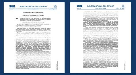 El BOE publica el Decreto Ley 11/2020 de CATALUÑA por el ...
