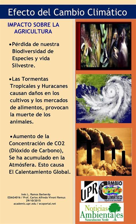 El Cambio Climático en la Agricultura: Afiche