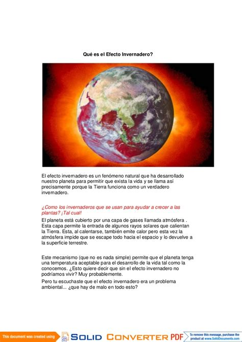 El cambio climático word pdf