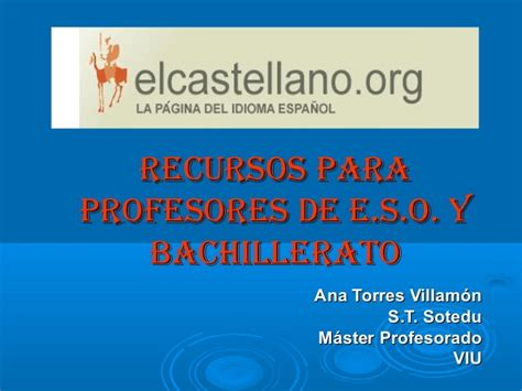 El castellano la página del idioma español