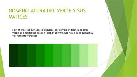 El color verde
