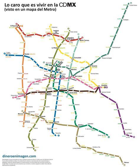 El costo de vivir en la Ciudad de México  visto en un mapa ...