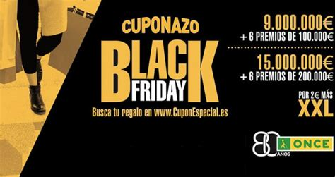 El Cuponazo de la ONCE celebra el Black Friday con 1.000 ...