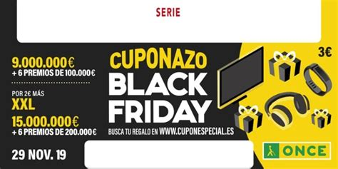 El Cuponazo de la ONCE se suma al Black Friday y regala ...