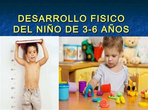 El desarrollo del niño de 3 a 6 años