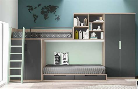 El dormitorio perfecto con modernas literas de Muebles ...