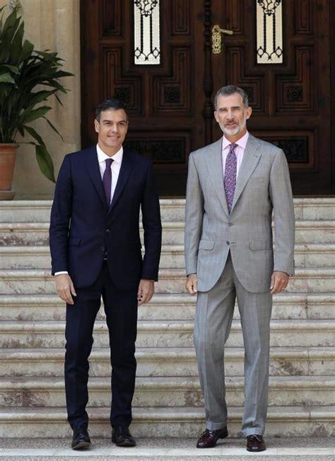 El encuentro entre Pedro Sánchez y Felipe VI en Marivent ...