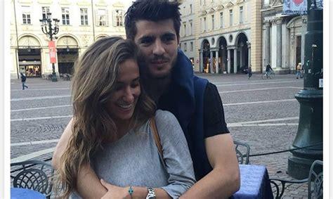 El futbolista Álvaro Morata, feliz junto a  la mejor novia ...