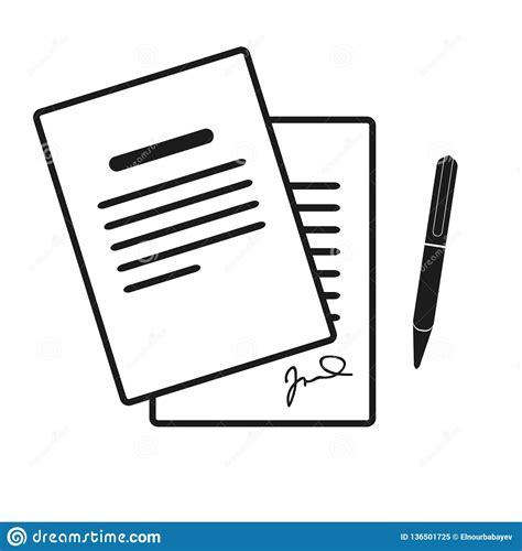 El Icono Del Contrato Acuerdo Y Firma, Pacto, Acuerdo ...