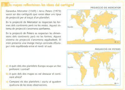El mapa de Peters en los libros de texto | No me hagas ...