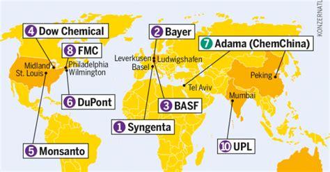 El mapa del  concentrado  mercado mundial de semillas y ...