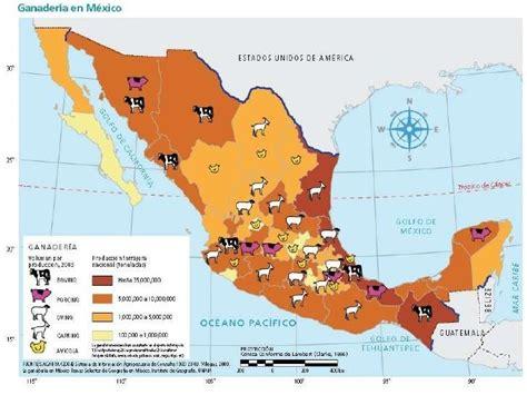 El mapa: Ganadería en México, corresponde a ¿Qué escala ...