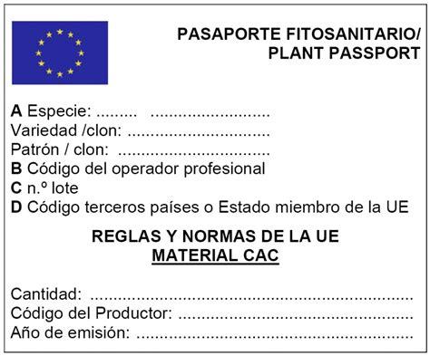 El MAPA publica nuevos modelos de etiquetas y pasaportes ...