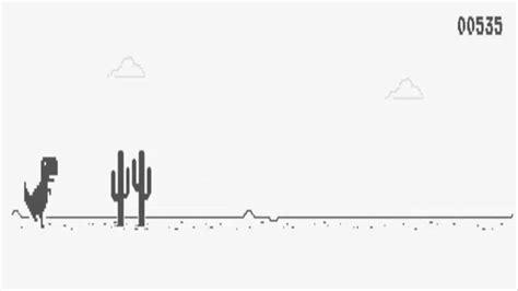 El mejor juego de la historia   Dinosaurio google chrome ...