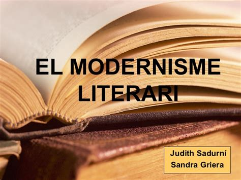 El modernisme literari
