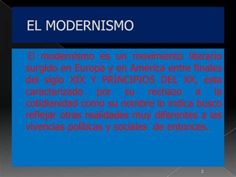 El modernismo en america latinadiapositiva clasetics