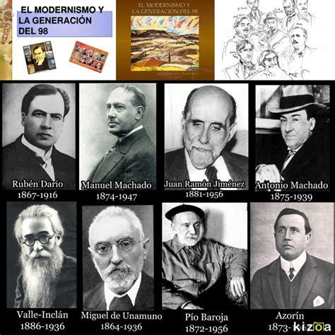 El.Modernismo , Generación.98 , AUTORES DEL MODERNISMO Y ...