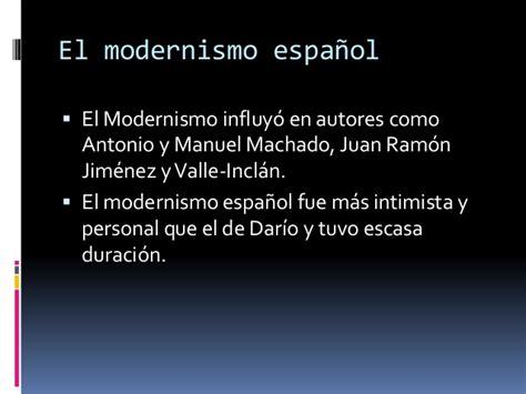 El movimiento modernista