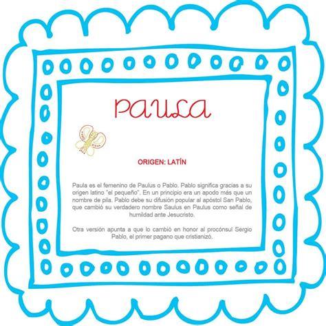 El nombre del bebé: Paula #BebésNUK | Nombres de bebes ...
