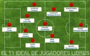 El once ideal de los futbolistas que quedan libres a final ...
