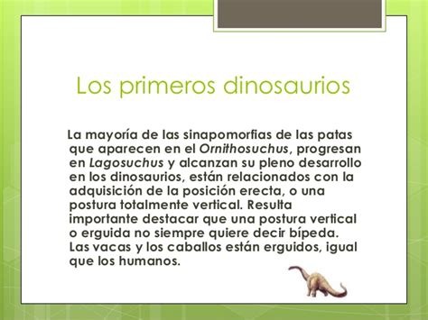 El origen de los dinosaurios