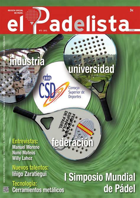 El Padelista. Revista Oficial de la federación Española de ...