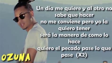 El Pecado   Ozuna / LETRA OFICIAL   YouTube