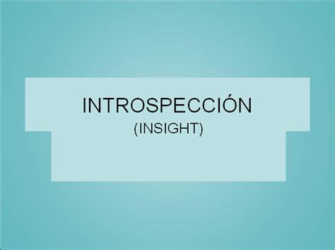 El pensamiento y el lenguaje: introspección   Monografias.com